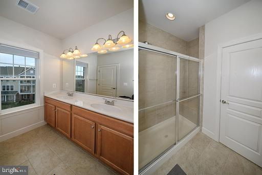 Master bath with shower and separate toilet rm. - 118 ANTHEM AVE, HERNDON