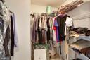 Large Master walk in closet - 2220 FAIRFAX DR #807, ARLINGTON