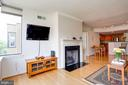 RARE fireplace to keep you warm in the winter. - 2220 FAIRFAX DR #807, ARLINGTON