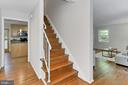 Refinished hardwood floors on the main level - 8303 BOTSFORD CT, SPRINGFIELD
