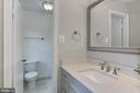 Upper level completely redone master bath - 8303 BOTSFORD CT, SPRINGFIELD