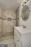 Completely redone lower level full bath - 8303 BOTSFORD CT, SPRINGFIELD