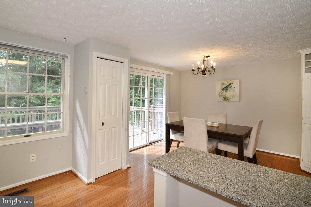Kitchen Opens to Dining Area - 1560 TWISTED OAK DR, RESTON