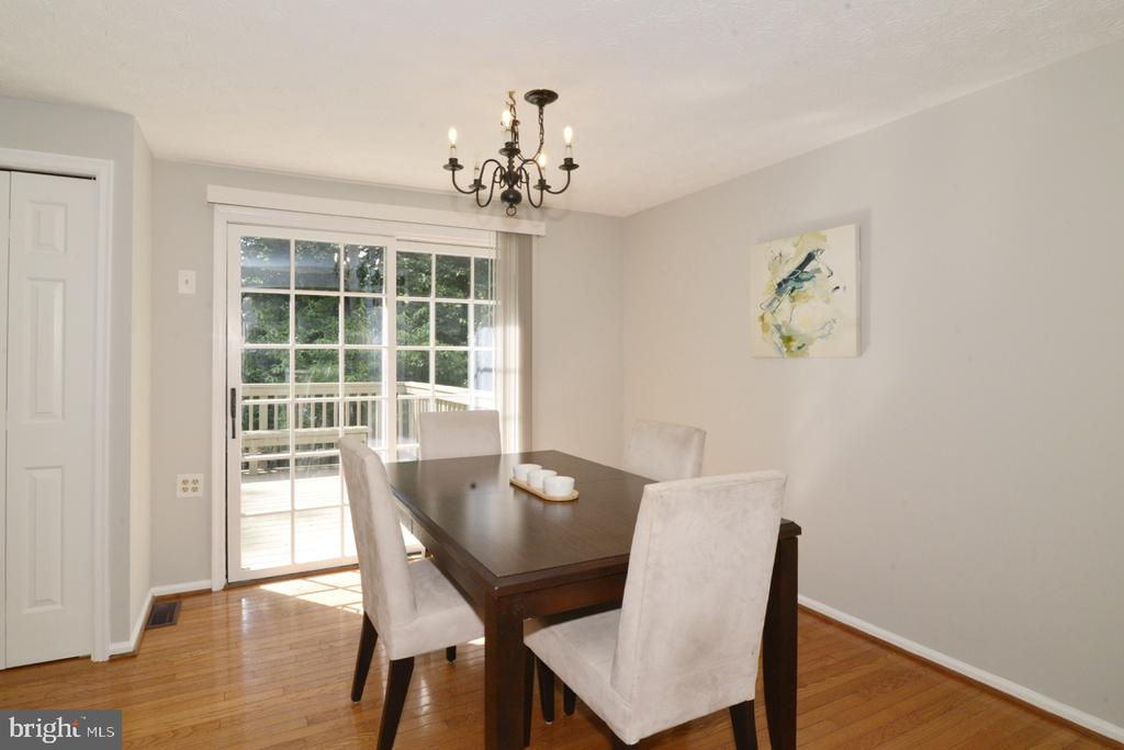 Dining Area - with Slider to Main Level Deck - 1560 TWISTED OAK DR, RESTON