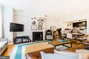 Unit 1 Gorgeous living room with fireplace - 1009 O ST NW, WASHINGTON