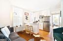 Unit 2 living area with new marble kitchen - 1009 O ST NW, WASHINGTON