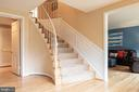 Stairs leading to Finished Lower Level - 9334 BOOTHE ST, ALEXANDRIA