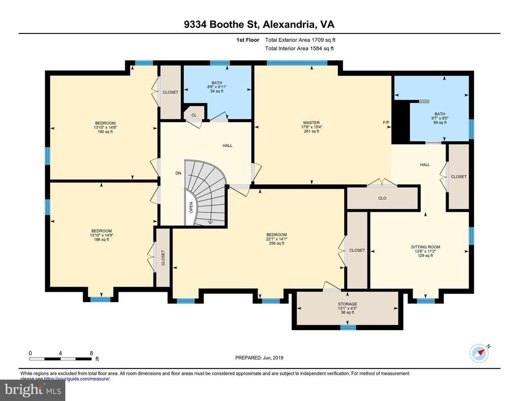 Upper Level Floor Plan - 9334 BOOTHE ST, ALEXANDRIA
