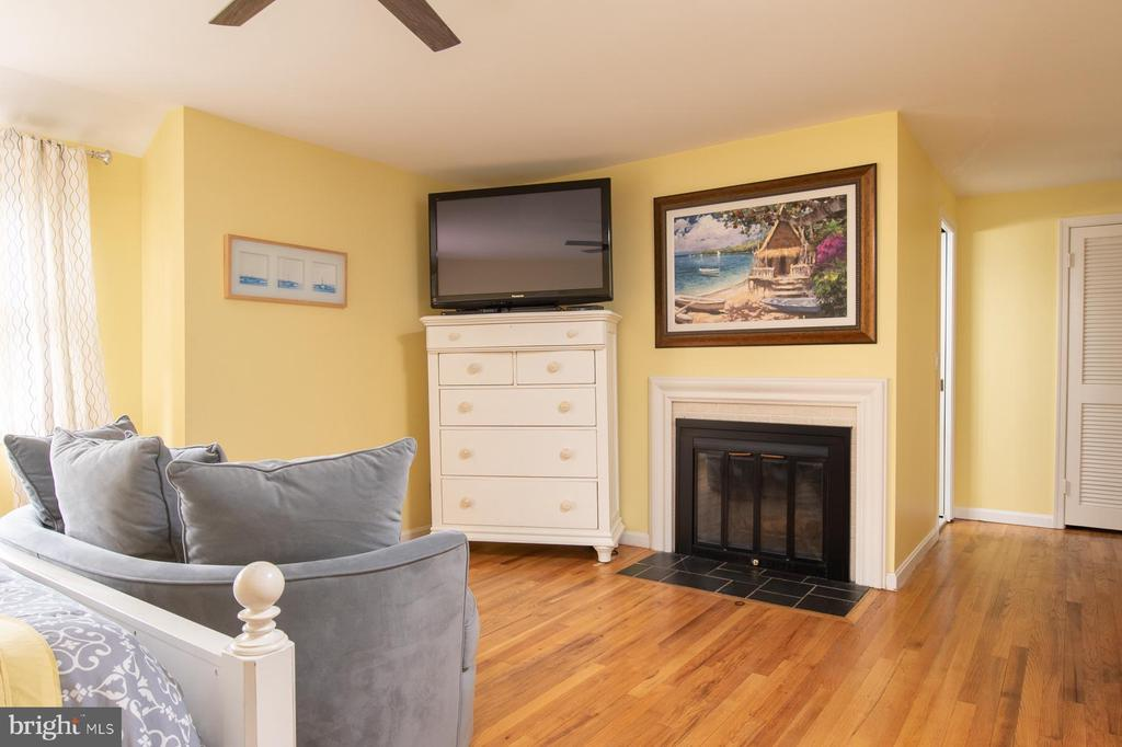 Master Bedroom with wood-burning Fireplace - 9334 BOOTHE ST, ALEXANDRIA