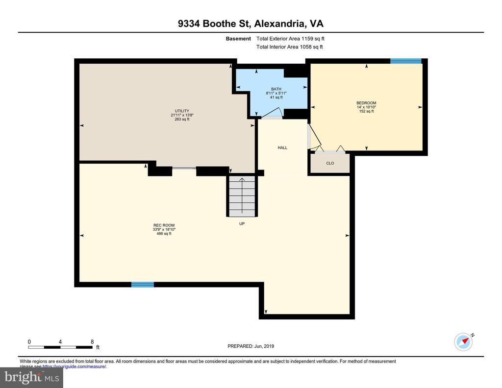 Lower Level Floor Plan - 9334 BOOTHE ST, ALEXANDRIA