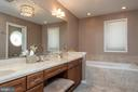 Master Bath with dual sinks and soaking tub - 7615 RIDGECREST DR, ALEXANDRIA