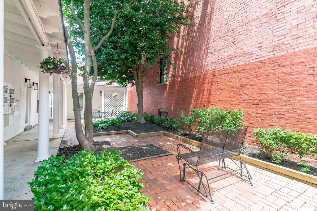 Common courtyard is a serene and welcoming space. - 1009 O ST NW, WASHINGTON