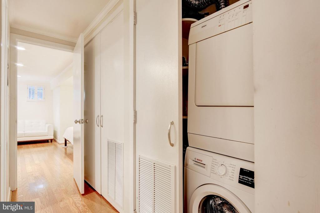Washer/Dryer in Bedroom Level - 2115 N ST NW #1, WASHINGTON