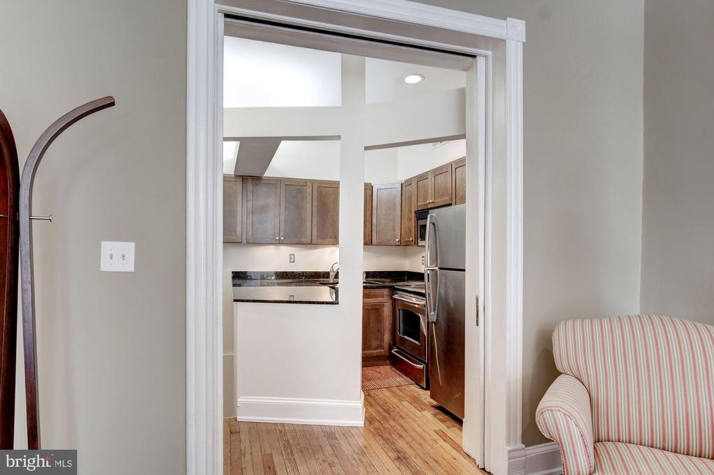 Double Pocket Door Entry - 2115 N ST NW #1, WASHINGTON