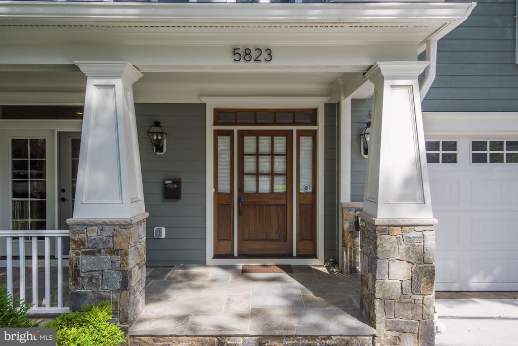 Exterior Entry Covered Front Porch - 5823 PHOENIX DR, BETHESDA