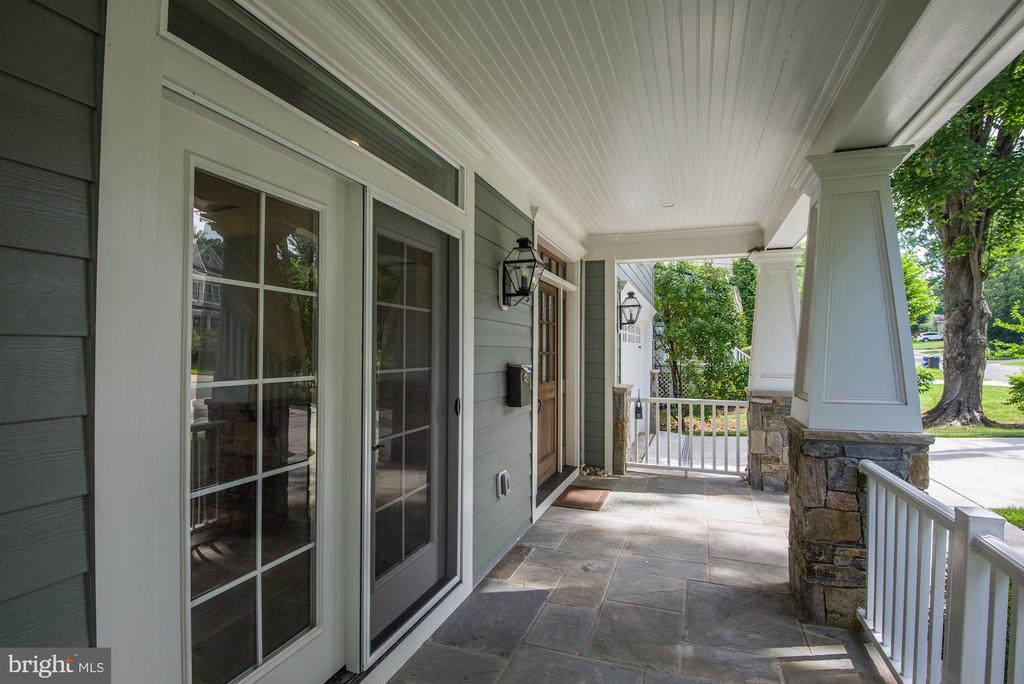 French Doors off Living Room Open To Front Porch - 5823 PHOENIX DR, BETHESDA