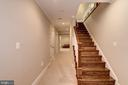 Wooden Staircase To Basement - 5823 PHOENIX DR, BETHESDA