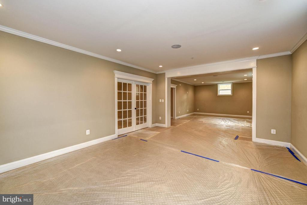 French Doors to Possible 5th Bedroom/ Media Suite - 5823 PHOENIX DR, BETHESDA