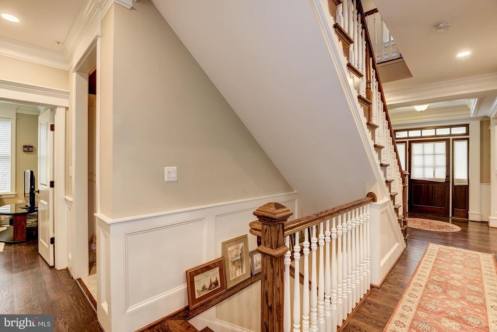 Hardwood Stair Case To Lower Level - 5823 PHOENIX DR, BETHESDA