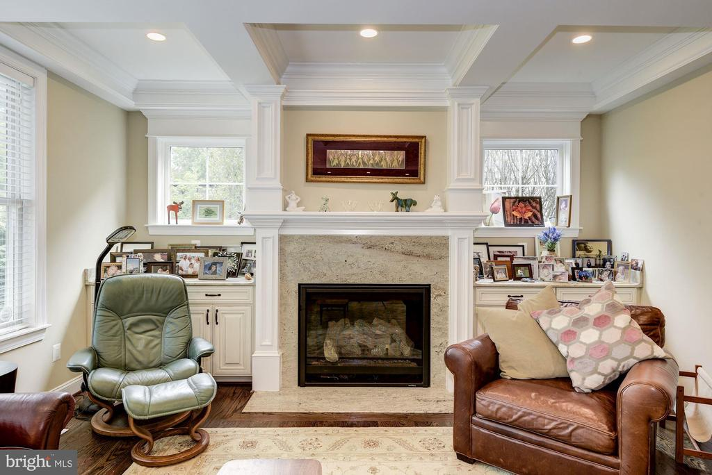 Marble Surround Gas Fireplace - 5823 PHOENIX DR, BETHESDA