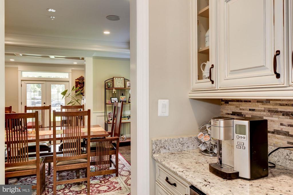 Butlers Pantry with Wine Chiller - 5823 PHOENIX DR, BETHESDA