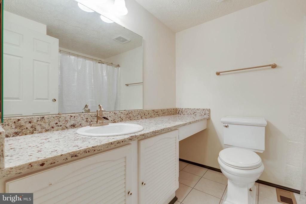 Updated Bathroom with Granite Counters - 4420 CUB RUN RD, CHANTILLY