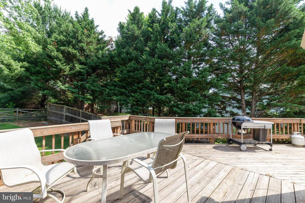 Spacious Deck Overlooks Great Backyard - 4420 CUB RUN RD, CHANTILLY