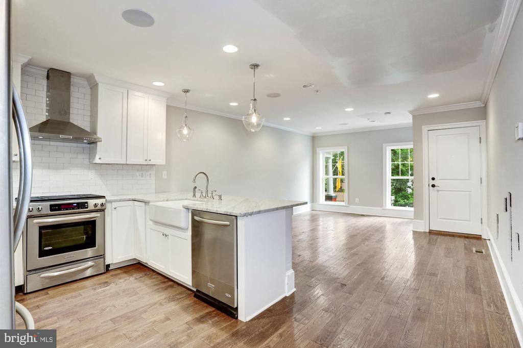 Open Living Area - Unit #1 - 1354 MERIDIAN PL NW #1 & 2, WASHINGTON