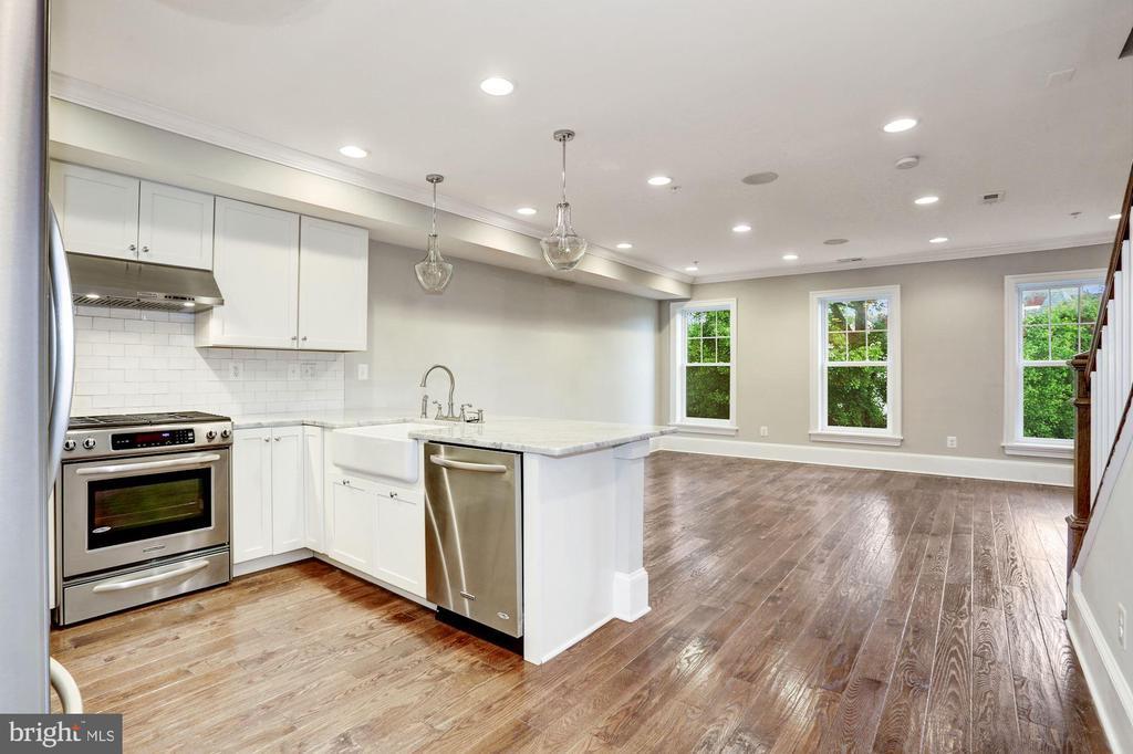 Open Kitchen & Living Area - Unit #2 - 1354 MERIDIAN PL NW #1 & 2, WASHINGTON