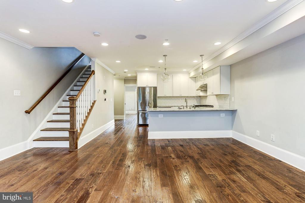 Open Living Area - Unit #2 - 1354 MERIDIAN PL NW #1 & 2, WASHINGTON
