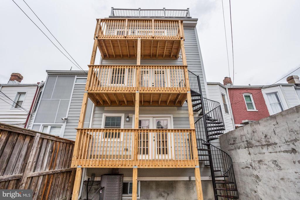 Rear Exterior - 1354 MERIDIAN PL NW #1 & 2, WASHINGTON
