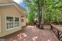 Newly Stained Rear Deck for Entertaining - 5021 QUEENSBURY CIR, FREDERICKSBURG