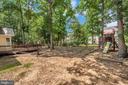 Fully Fenced Rear Yard with Playscape - 5021 QUEENSBURY CIR, FREDERICKSBURG
