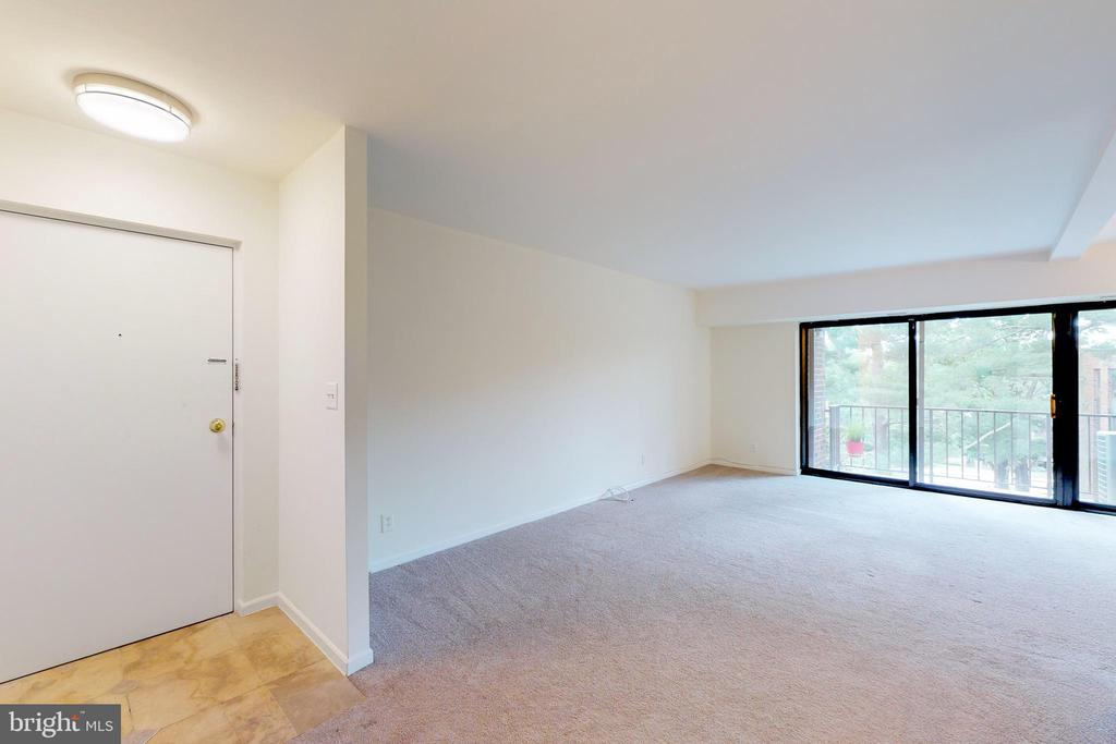 Front Door and living room - 7806 DASSETT CT #203, ANNANDALE