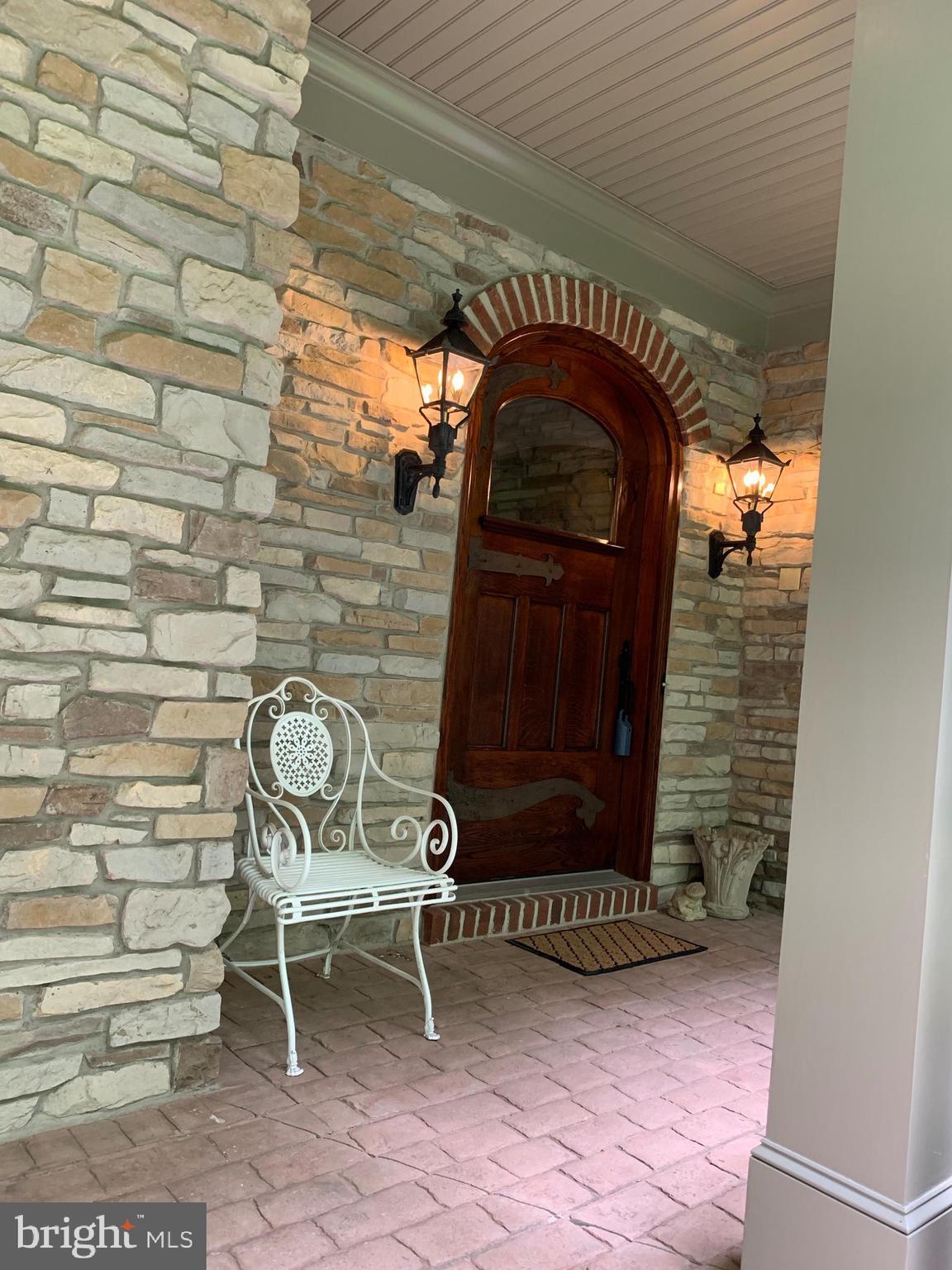 Entering front porch