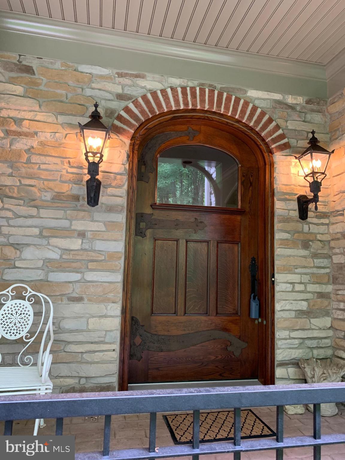 Home was built around one of a kind front door