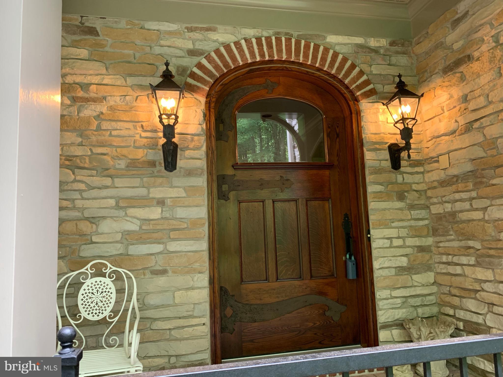 Massive solid chestnut door