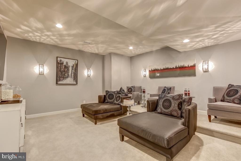 Lower level media/movie sound-designed room - 2327 DALE DR, FALLS CHURCH