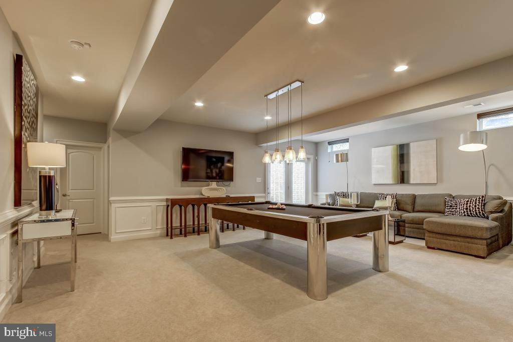 Expansive LL rec room with wide, light-filled exit - 2327 DALE DR, FALLS CHURCH