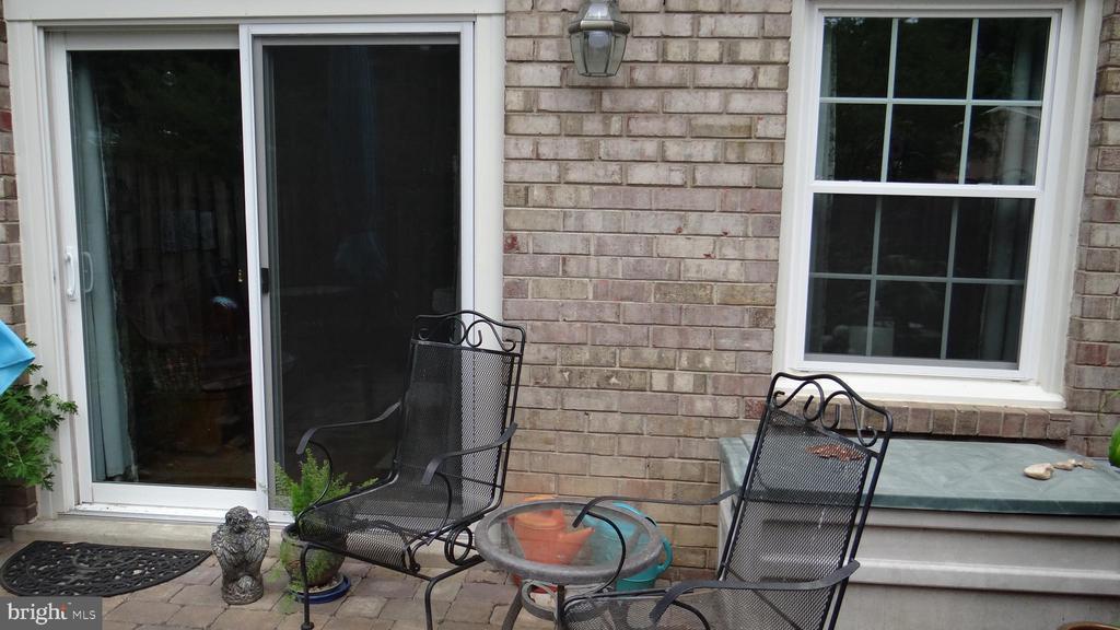 Sliding door opens to patio - 409 GREENBRIER CT #409, FREDERICKSBURG
