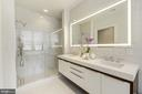 with  bath en-suite with walk-in glass shower - 1427 RHODE ISLAND AVE NW #PH3, WASHINGTON