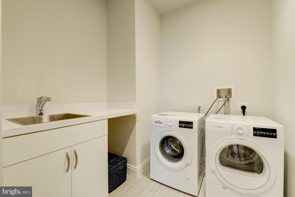 in-unit laundry room w/ Bosch washer/dryer - 1427 RHODE ISLAND AVE NW #PH3, WASHINGTON