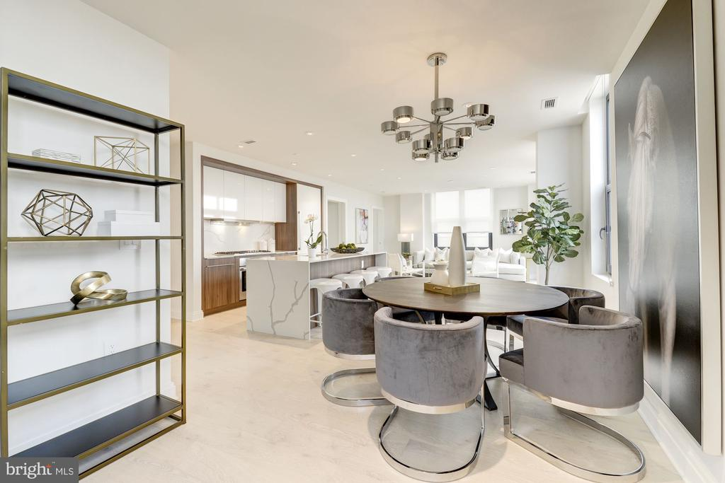 with dedicated formal dining area - 1427 RHODE ISLAND AVE NW #PH3, WASHINGTON
