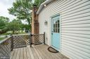 This side deck connects the kitchen & driveway - 5509 CAROUSEL ST, FREDERICKSBURG