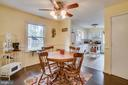 The Dining Room opens to the Kitchen - 5509 CAROUSEL ST, FREDERICKSBURG