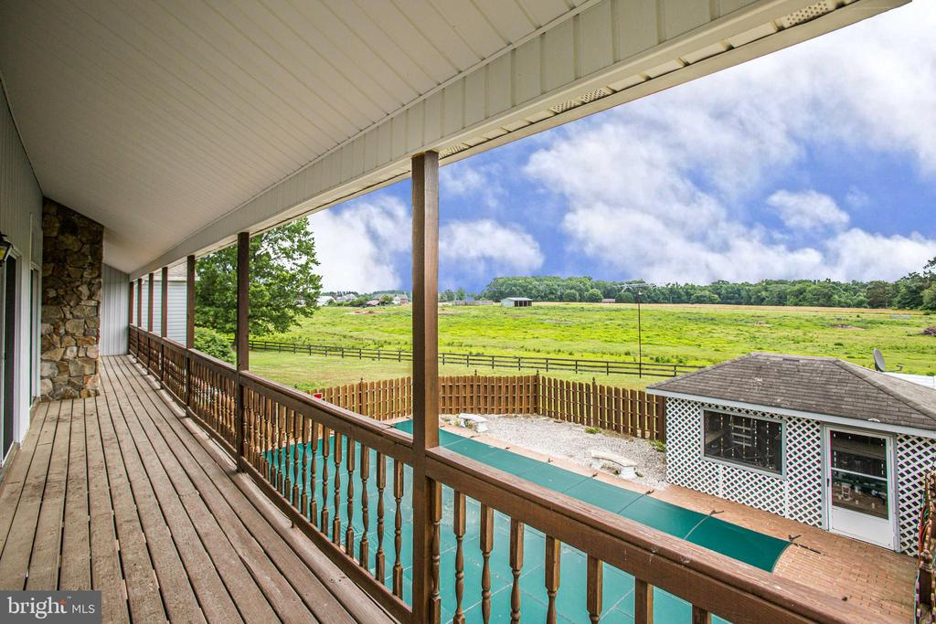Balcony from Master Bedroom and Family Room - 118 RINGGOLD RD, FREDERICKSBURG