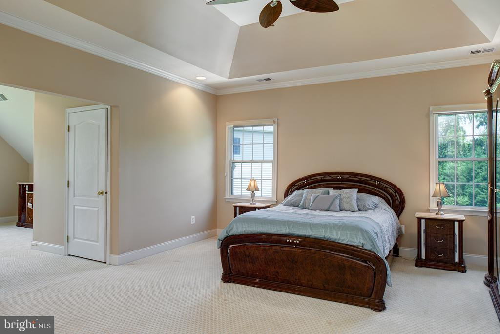 Gorgeous owner's bedroom with coffered ceilings! - 43872 ASHLAWN CT, ASHBURN