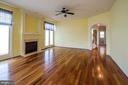 Family Room with Gas Fireplace - 18926 ROSINGS WAY, TRIANGLE