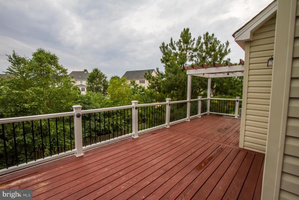 Balcony off of the kitchen - 18926 ROSINGS WAY, TRIANGLE