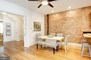 Exposed Brick both walls in Dining Area - 1218 EUCLID ST NW, WASHINGTON